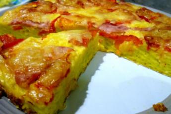 Вкуснотища необыкновенная! Румяный и пышный кабачковый пирог — запеканка: хочется готовить его чаще пока сезон!