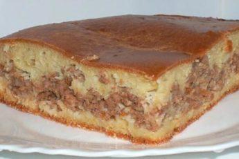 Быстрый пирог с мясом «Легче не бывает»